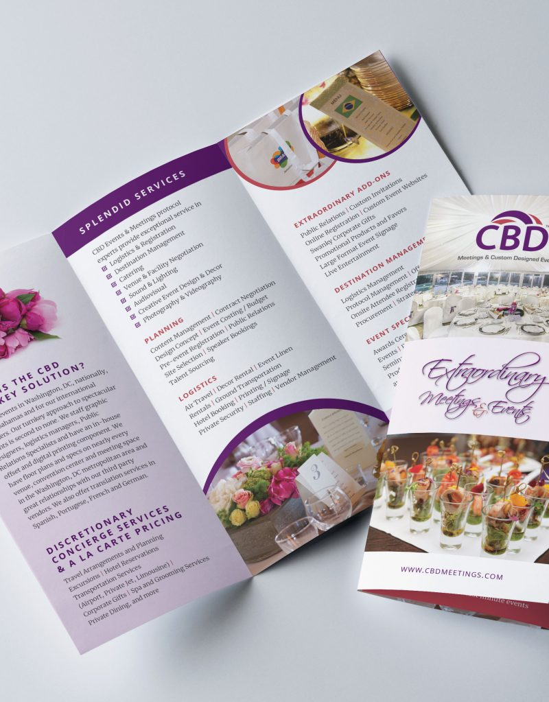 Sample Brochure for Special events