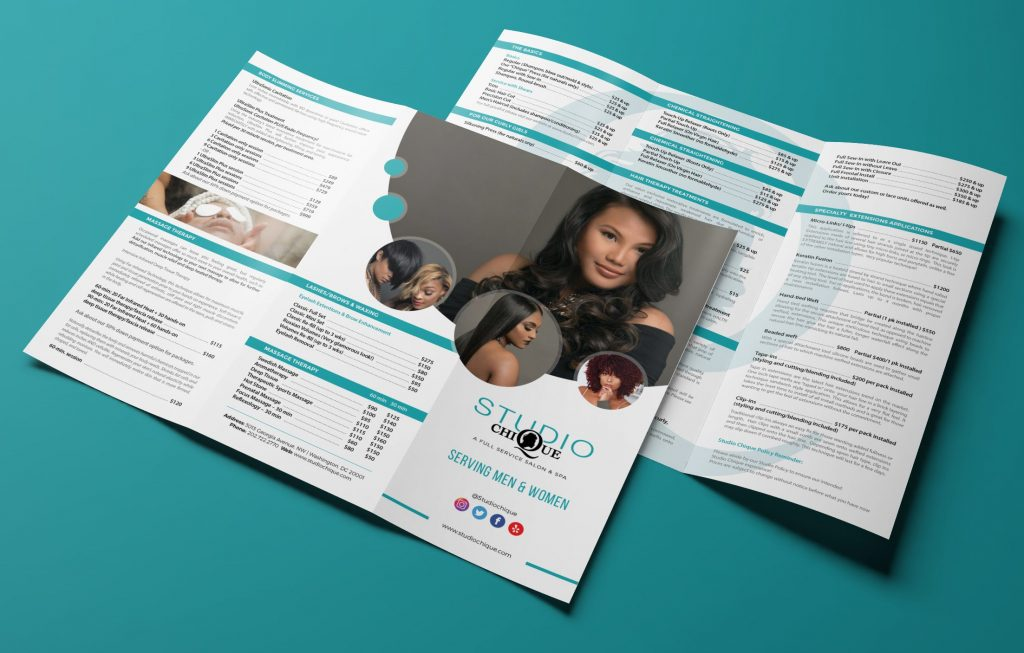 Salon Brochure Trifold