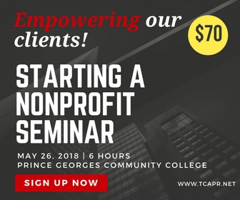 Starting a Nonprofit Classes at Laurel Community College and Prince Georges Community College