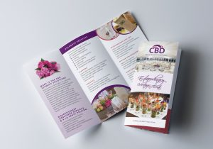 graphic design Sample Brochure for Special events